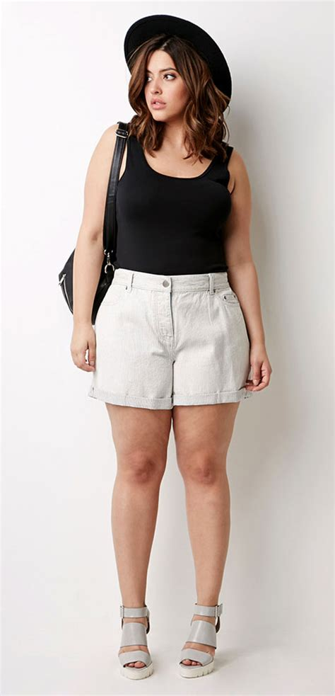 thick curvy women full body pictures flattering shorts for curvy girls curvy guide