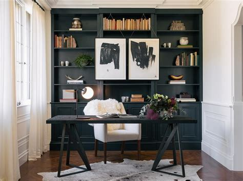 black built ins black and white floor design ideas