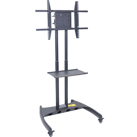 Adjustable Height Shelf by Luxor Fp3500 Height Adjustable Rotating Mobile Stand With