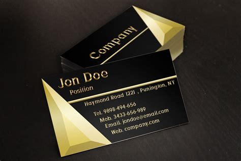 Gold Membership Card Template Psd by Black And Gold Jewelry Store Business Card Template By
