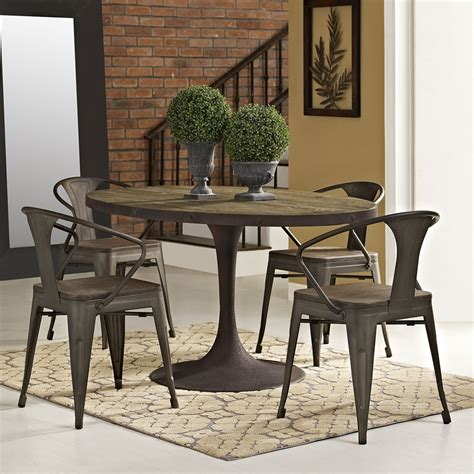 drive 60 quot oval dining table wood top brown dcg stores