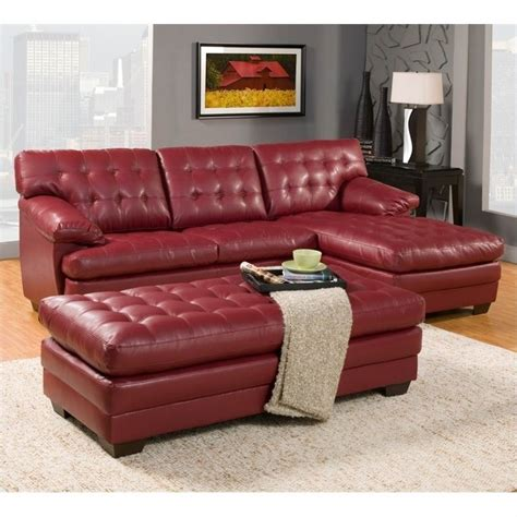 Oversized Leather Sectional Trent Home Oversized Tufted 3 Leather