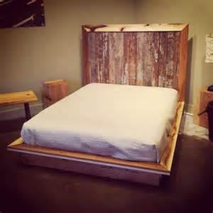 Modern platform bed from reclaimed salvage evolutia
