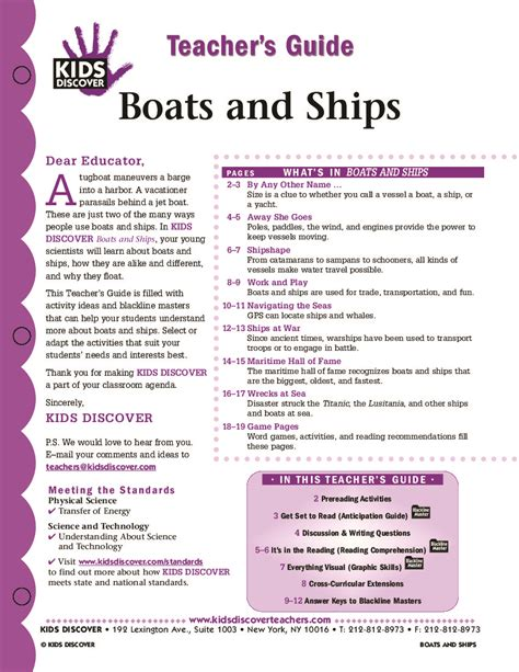 boat lesson plans for toddlers boats and ships kids discover