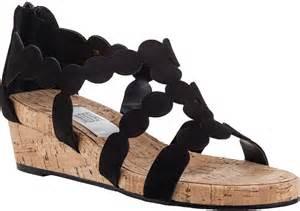 Sandal Wanita Wedges Original Black vaneli for jildor kelcie wedge sandal black suede where to buy how to wear