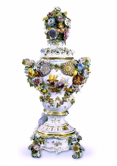 Meissen Vases by Detail Meissen Porcelain Factory Meissen Germany Est