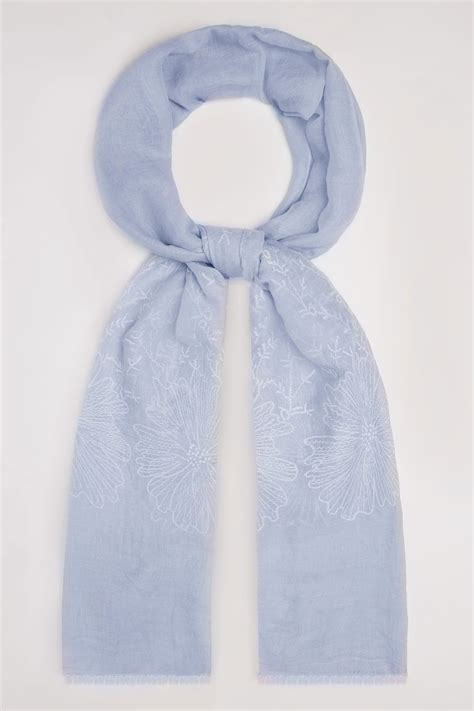 Find S Names By Address Uk Blue Floral Embroidered Scarf