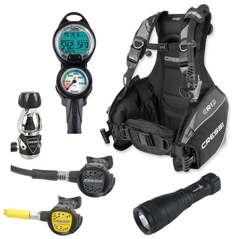 dive equipment packages cressi r1 bcd scuba gear package review for