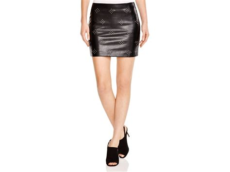 studded faux leather mini skirt bloomingdale