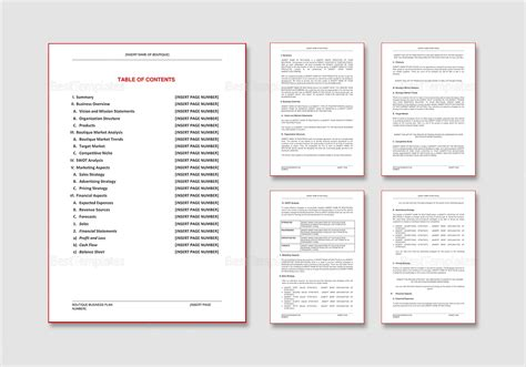 Boutique Template by Boutique Business Plan Template In Word Docs