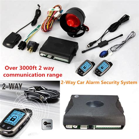 1 Way Car Auto Vehicle Burglar Alarm Protection Keyless Security Syste 2 way car alarm security system w 2 pcs lcd distance controlers kit ebay