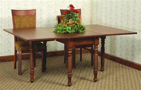 Kitchen Table As Desk Amish Drop Leaf Kitchen Tables All About House Design