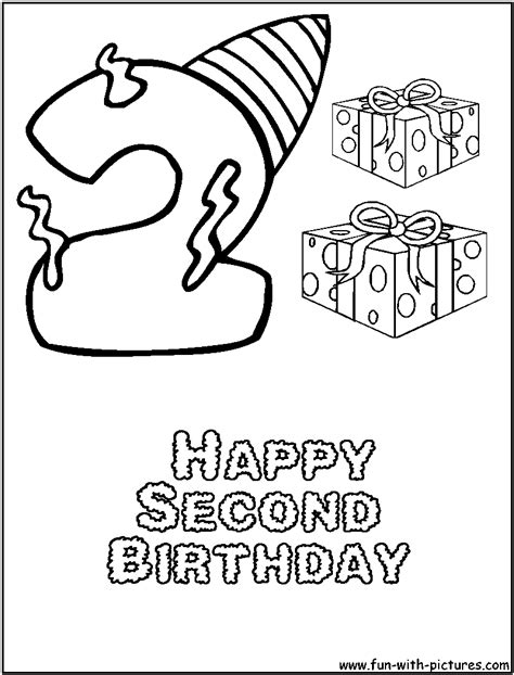free coloring pages of happy 1st birthday