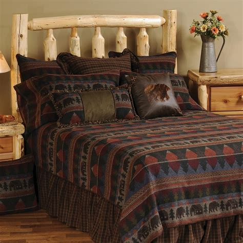 cabin style bedding cabin bear bedspread collection cabin place for cabin