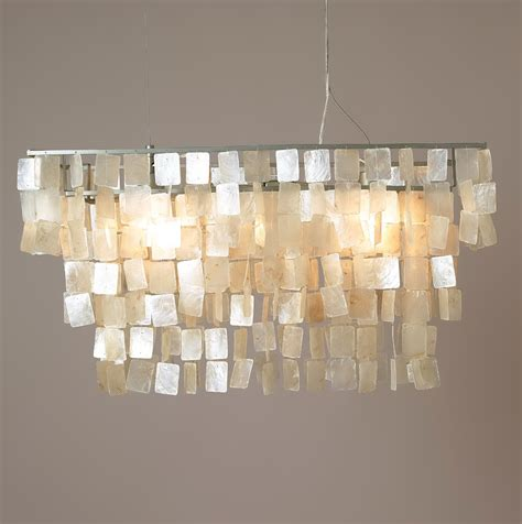 rectangular capiz shell chandelier 28 images