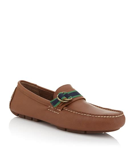 polo ralph boat shoe in brown for denim lyst