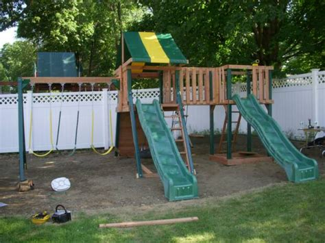 costco swing sets swing set installation nj playset installer cedar summit