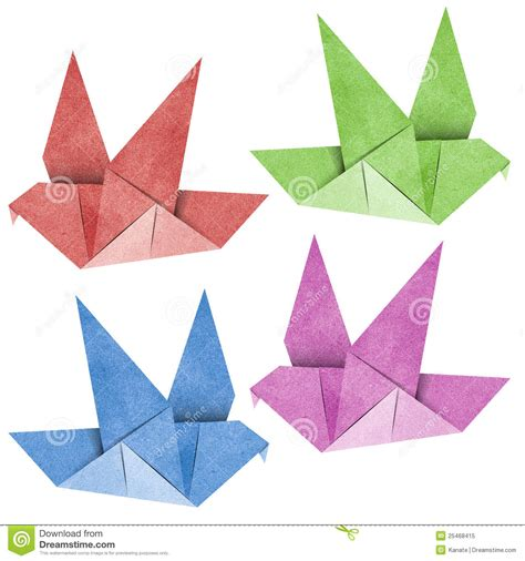 Papercraft Origami - origami bird recycled papercraft royalty free stock photo