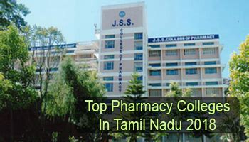 Top 10 Mba Colleges In Tamilnadu 2016 by Top Pharmacy Colleges In Tamil Nadu 2018 List Rating