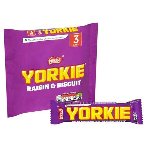 yorkie bar calories nestle yorkie raisin biscuit 3 x 44g from ocado