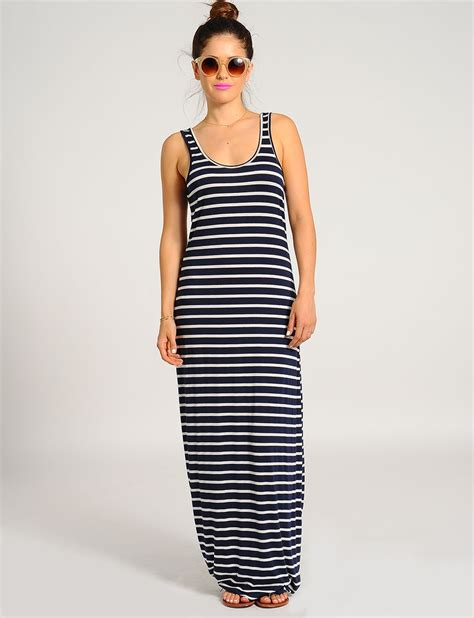 Dress Stripe striped maxi dress with sleeves all dresses
