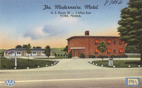 Civil Search York Pa Modernaire Motel York Pa Vintage Postcard Visit Pa Country