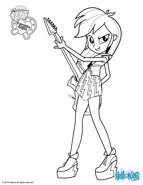 free coloring pages of girl in pony trap equestria girls rainbow dash coloring pages free