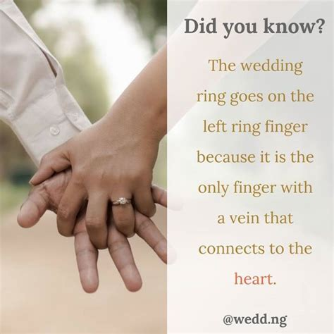 wedding ring on left finger vein did you the wedding ring goes on the left ring