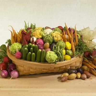 vegetarian baskets baby vegetables basket