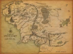 lord of the rings map of middle earth