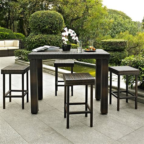 outdoor table top materials high top patio table set material option indoor