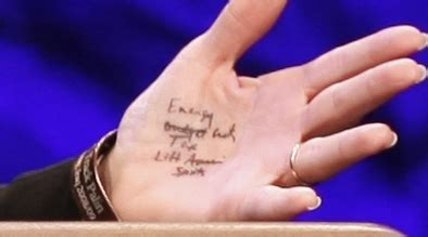 keith lemon tattoo on wrist palin wrote notes on for tea speech