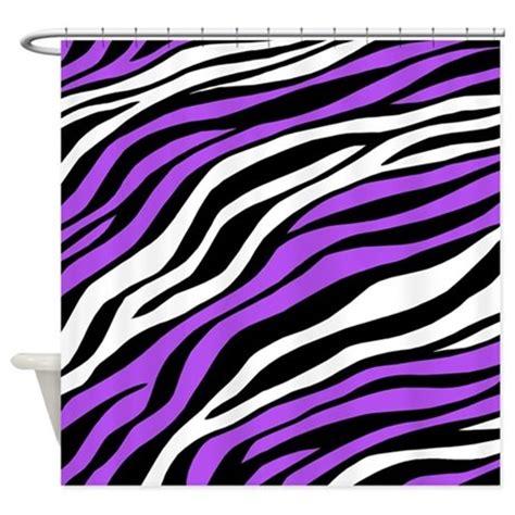 purple zebra print rug interior decorating home shower curtain zebra rings