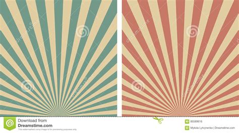 retro sunrise sun rays vector template background stock