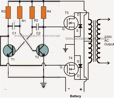 mosfet diagram mini 50 watt mosfet inverter circuit