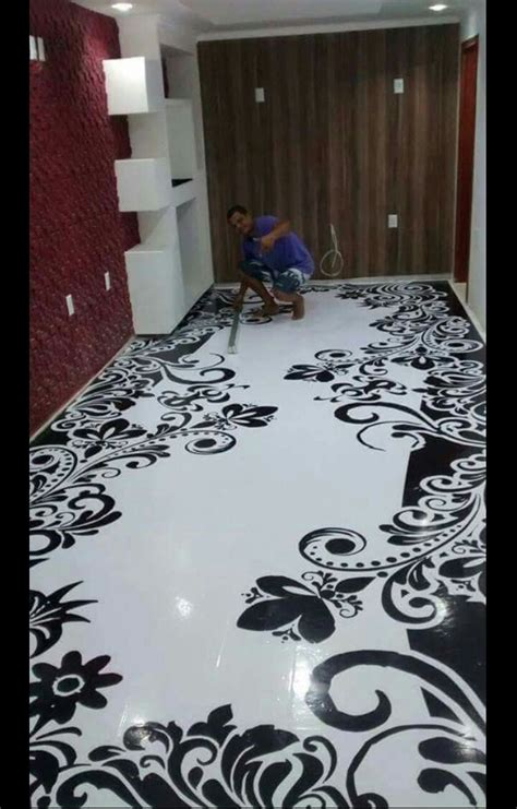 pretty painted floors with flower designs port harcourt 3d epoxy flooring practical training and