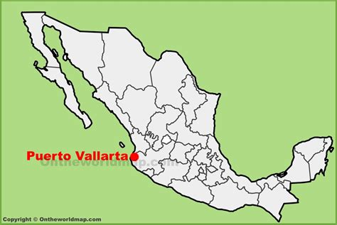 vallarta map of mexico vallarta location on the mexico map
