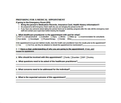 sle appointment card 8 sle exle format