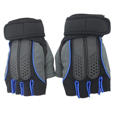 Sarung Tangan Untuk Fitnes sarung tangan half finger sepeda fitnes size l black