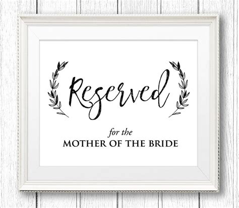 editable reserved sign wedding reserved table seat sign
