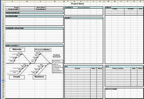 Toyota A3 Report A3 Report Template In Excel Desktop Apps Pinterest Report Template Lean Manufacturing Excel Templates