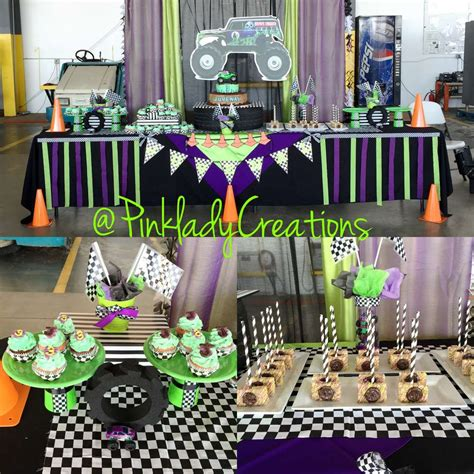 monster jam truck party supplies monster jam gravedigger birthday party ideas photo 6 of