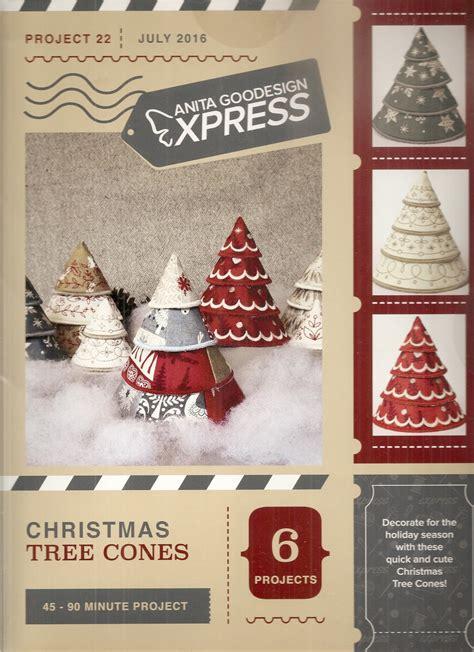 anita goodesign express christmas tree cones 079673010708