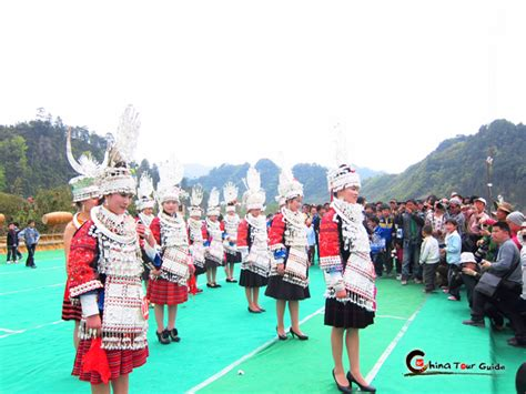 Feast Of Contest Mound 6 by 6 Days Guizhou Miao Meal Festival Annual Tour