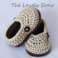Booties crochet pattern for little mister loafers by ebethalan photo