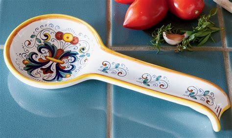 Deruta Ceramic Spoon Rest
