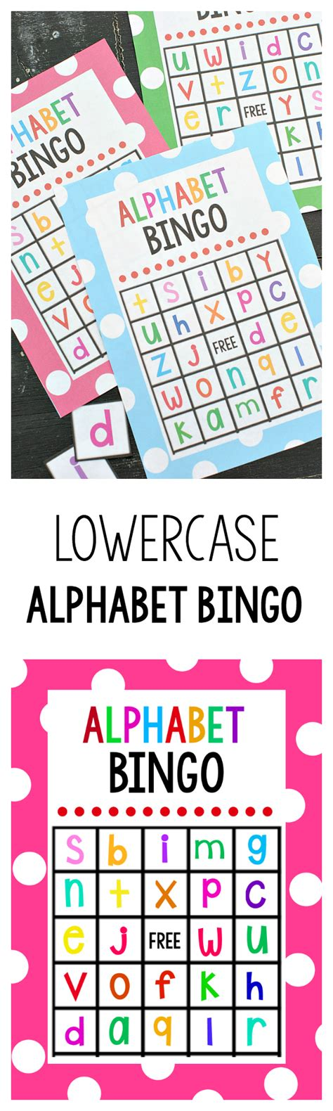 printable alphabet bingo lowercase alphabet bingo game crazy little projects