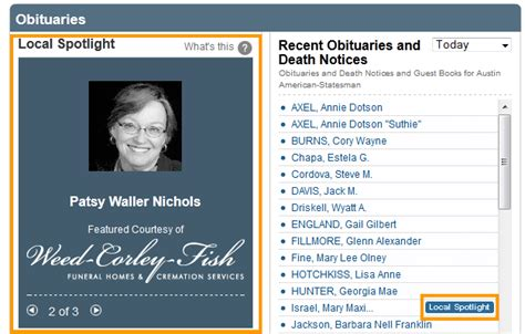section funeral home obituaries new revenue opportunity from legacy com