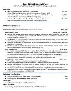 resume sle simple resume template