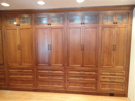 Built In Wardrobe Cabinets Custom Made White Oak Wardrobe Closet By Oak Mountain